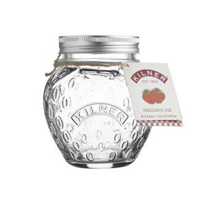 Kilner ozdobná zavařovací sklenice ve tvaru jahody, 400 ml
