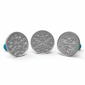 Frozen II razítka na sušenky sněhové vločky Nordic Ware Snowflakes, sada 3 ks