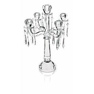 Villeroy & Boch Retro skleněný pětiramenný svícen, 43 cm