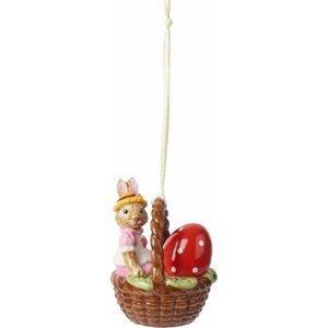 Villeroy & Boch Bunny Tales velikonoční závěsná dekorace, zaječice Anna v košíčku