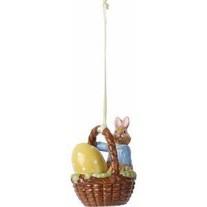 Villeroy & Boch Bunny Tales velikonoční závěsná dekorace, zajíček Max v košíčku