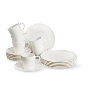 Villeroy & Boch Like Voice Basic porcelánový kávový servis, 18 ks