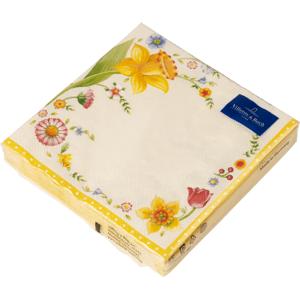 Villeroy & Boch Easter Accessoires velikonoční ubrousky s květinovým motivem, 33 x 33 cm
