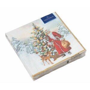 Villeroy & Boch Winter Specials vánoční ubrousky, Santa se stromečkem, 33 x 33 cm