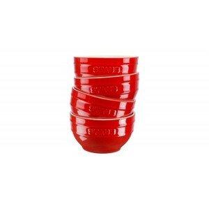 Sada 4 keramických misek Staub, Ø 12 cm, višeň