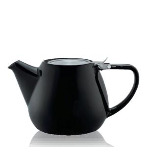Keramická čajová konvice T.Totem s filtrem, 1,1 l, černá