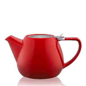 Keramická čajová konvice T.Totem s filtrem, 1,1 l, červená