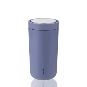 Nerezový dvoustěnný termohrnek To Go Click Stelton, 0,4 l, světle modrý