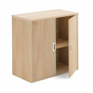 Kancelářská policová skříň Modulus 80 x 40 x 80 cm, světle hnědá, lamino