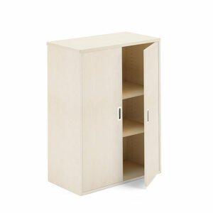 Kancelářská policová skříň Modulus 120 x 40 x 80 cm, béžová, lamino