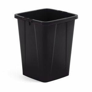 Koš na tříděný odpad Oliver, 90 l, černý
