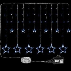 VOLTRONIC® 59575 Vánoční dekorace - svítící hvězdy - 150 LED studená bílá