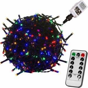 VOLTRONIC® 59745 Vánoční LED osvětlení 20 m - barevná 200 LED + ovladač - zelený kabel