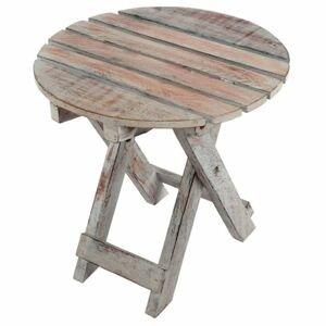 DIVERO Vintage 60223 Skládací stolek - 31 cm