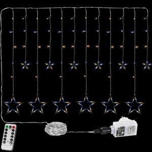 VOLTRONIC® 67296 Vánoční závěs - 12 hvězd, 150 LED, teple/studeně bílý