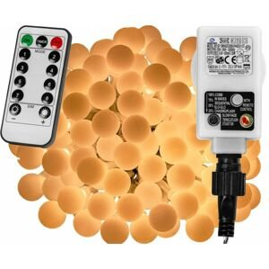 VOLTRONIC® Párty LED osvětlení 10 m - teple bílá 100 diod + ovladač