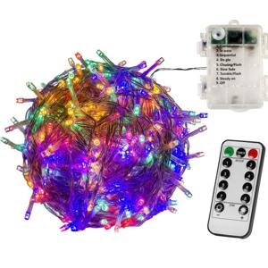 VOLTRONIC® 67411 Vánoční řetěz - 20 m, 200 LED, barevný, na baterie