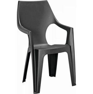 Plastová židle Dante, grafitová