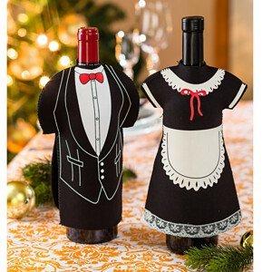 Magnet 3Pagen 2 oblečky na víno 2ks
