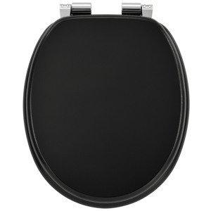 Eshopist Záchodové deska černá vyrobená z MDF s tichým zavíráním