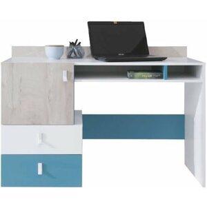 Pc stolek PLUTO, bílá/modrá