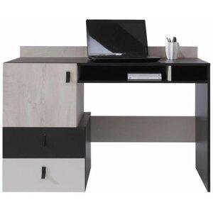 Pc stolek PLUTO s nástavbou, černá dub