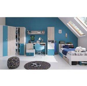 Dětský pokoj PLUTO 1, bílá/modrá