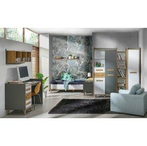 Studentský pokoj WINSOR 5, bílá/olše
