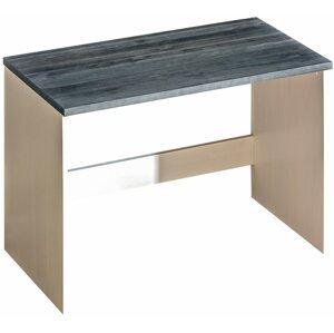 Psací stůl z masivu ASTON 9, borovice bílá/popel