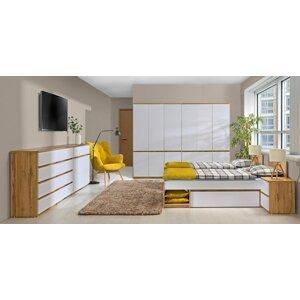 Studentský pokoj pro dva Alpina 7, dub/bílá - skladem