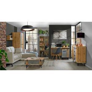 Studentský pokoj Leewood 2, dub/šedá - skladem