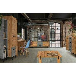 Studentský pokoj Leewood 3, dub/šedá - skladem