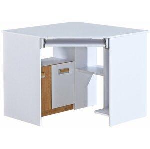 Pc stůl LUCAS 11, dub/bílá