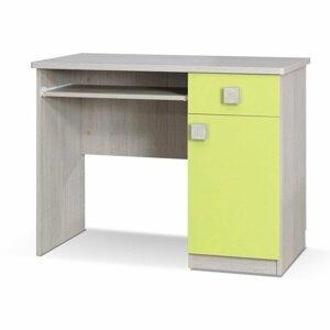PC stolek TUNIS, dub santana/zelená