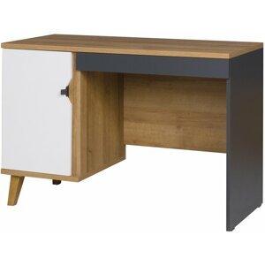 Pc stolek MALMO, dub zlatý/bílá
