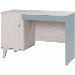 Pc stolek MALMO, dub bílý/modrá