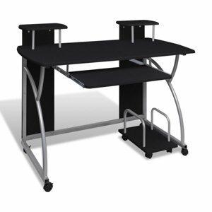 Počítačový stůl DTD / kov Dekorhome Černá
