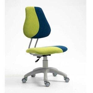 Dětská rostoucí židle RAIDON látka Tempo Kondela Modrá / zelená