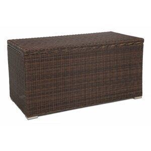 Zahradní úložný box polyratan 1037L Hnědá