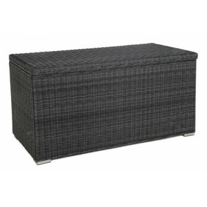 Zahradní úložný box polyratan 1037L Šedá