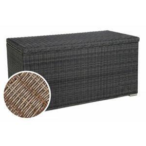 Zahradní úložný box polyratan 1037L Přírodní