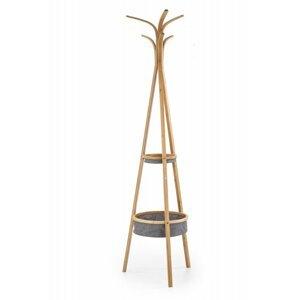 Věšák W63 bambus / šedá Halmar
