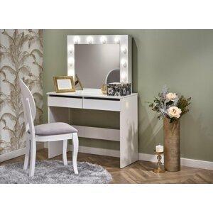 Toaletní stolek HOLLYWOOD bílá Halmar
