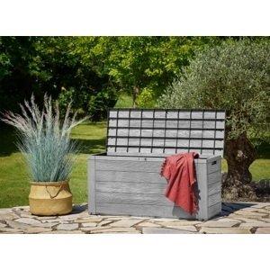 Zahradní úložný box D8981 šedá Dekorhome