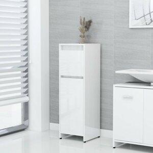 Koupelnová skříňka DTD deska Dekorhome Bílá lesk
