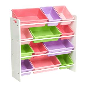 Regál na hračky MAISAN bílá / vícebarevná Tempo Kondela