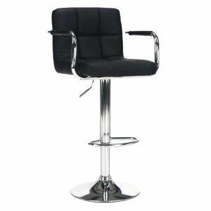 Barová židle LEORA 2 NEW ekokůže / kov Tempo Kondela Černá