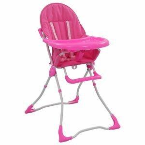 Dětská jídelní židlička Dekorhome Růžová