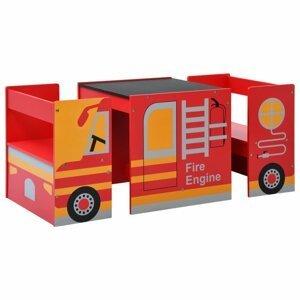 Dětský set hasičské auto Dekorhome