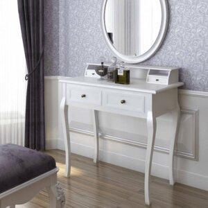 Toaletní stolek bílá Dekorhome